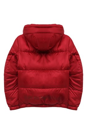 Детского куртка с капюшоном EMPORIO ARMANI красного цвета, арт. 6H4BL1/1NLSZ   Фото 2