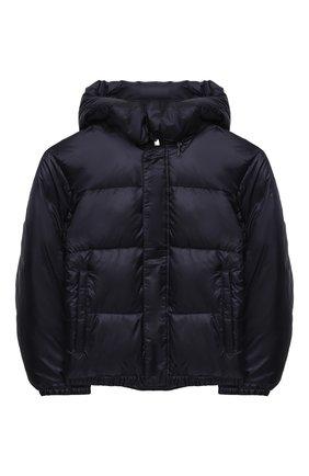 Детского куртка с капюшоном EMPORIO ARMANI темно-синего цвета, арт. 6H4BL1/1NLSZ | Фото 1