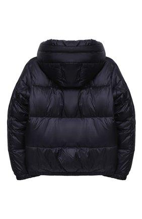 Детского куртка с капюшоном EMPORIO ARMANI темно-синего цвета, арт. 6H4BL1/1NLSZ   Фото 2