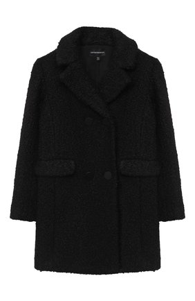 Детское пальто EMPORIO ARMANI черного цвета, арт. 6H3L03/2NNBZ   Фото 1