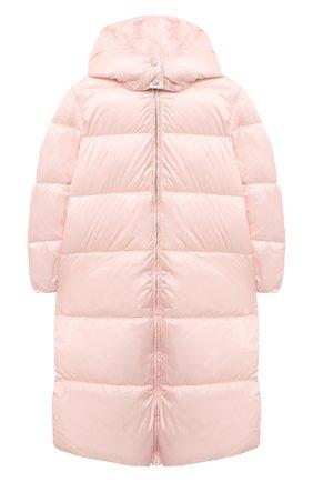Детское пальто с капюшоном EMPORIO ARMANI светло-розового цвета, арт. 6H3L01/1NLYZ   Фото 1