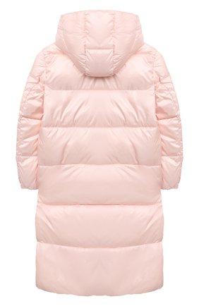 Детское пальто с капюшоном EMPORIO ARMANI светло-розового цвета, арт. 6H3L01/1NLYZ   Фото 2