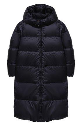 Детское пальто с капюшоном EMPORIO ARMANI темно-синего цвета, арт. 6H3L01/1NLYZ   Фото 1
