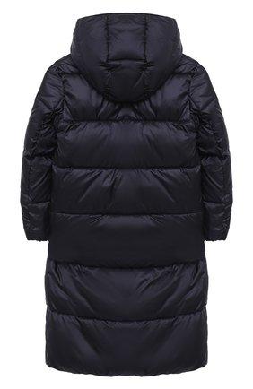 Детское пальто с капюшоном EMPORIO ARMANI темно-синего цвета, арт. 6H3L01/1NLYZ   Фото 2