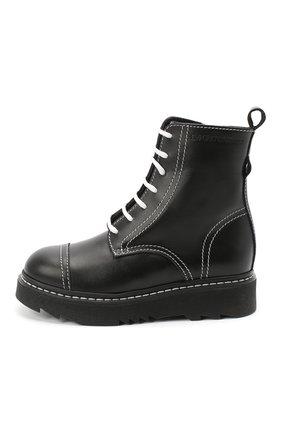 Детские кожаные ботинки EMPORIO ARMANI черного цвета, арт. XXN004/X0I35/28-34 | Фото 2