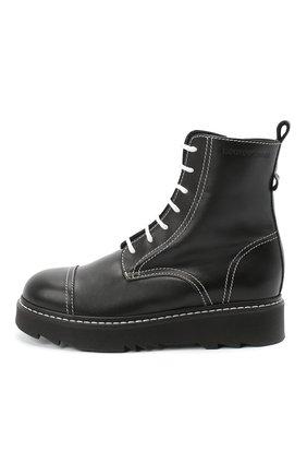 Детские кожаные ботинки EMPORIO ARMANI черного цвета, арт. XXN004/X0I35/35-40 | Фото 2