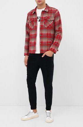 Мужские джинсы NEIL BARRETT черного цвета, арт. PBJP173V/P501T | Фото 2