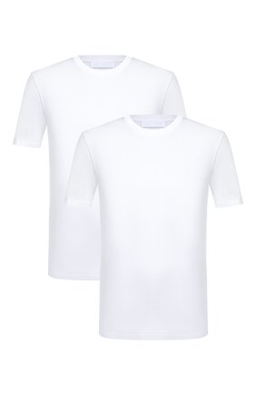 Мужская комплект из двух футболок NEIL BARRETT белого цвета, арт. PBJT588/P582S | Фото 1