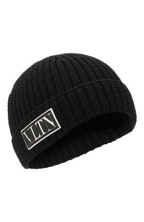 Мужская шерстяная шапка VALENTINO черного цвета, арт. UY2HB00NZDB | Фото 1