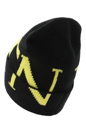 Мужская шапка из шерсти и кашемира VALENTINO черного цвета, арт. UY2HB00AFTA | Фото 2