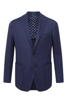 Мужской пиджак из кашемира и шелка ZILLI синего цвета, арт. MNU-ECKX-2-D6634/M001 | Фото 1