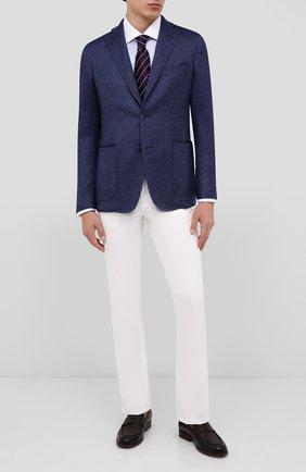 Мужской пиджак из кашемира и шелка ZILLI синего цвета, арт. MNU-ECKX-2-D6634/M001 | Фото 2