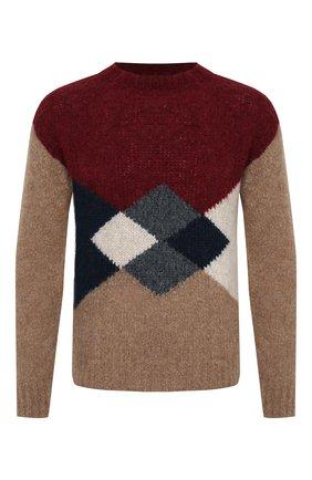 Мужской шерстяной свитер GIORGIO ARMANI красного цвета, арт. 6HSM25/SM33Z | Фото 1