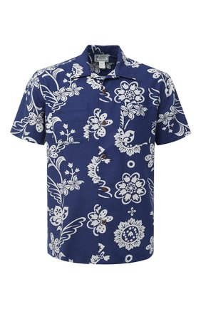 Мужская льняная рубашка RRL синего цвета, арт. 782784876 | Фото 1