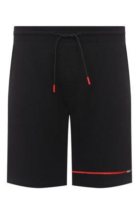 Мужские хлопковые шорты HUGO черного цвета, арт. 50432048 | Фото 1