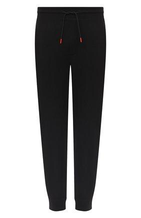 Мужской хлопковые джоггеры HUGO черного цвета, арт. 50431478 | Фото 1