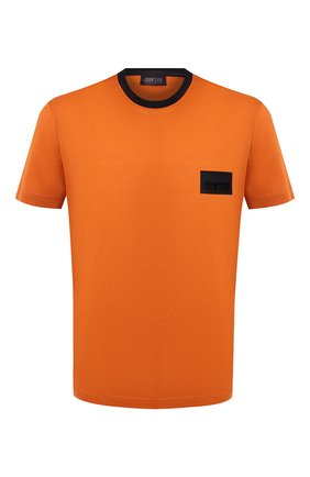 Мужская хлопковая футболка CROW'S EYE оранжевого цвета, арт. LE 61 | Фото 1