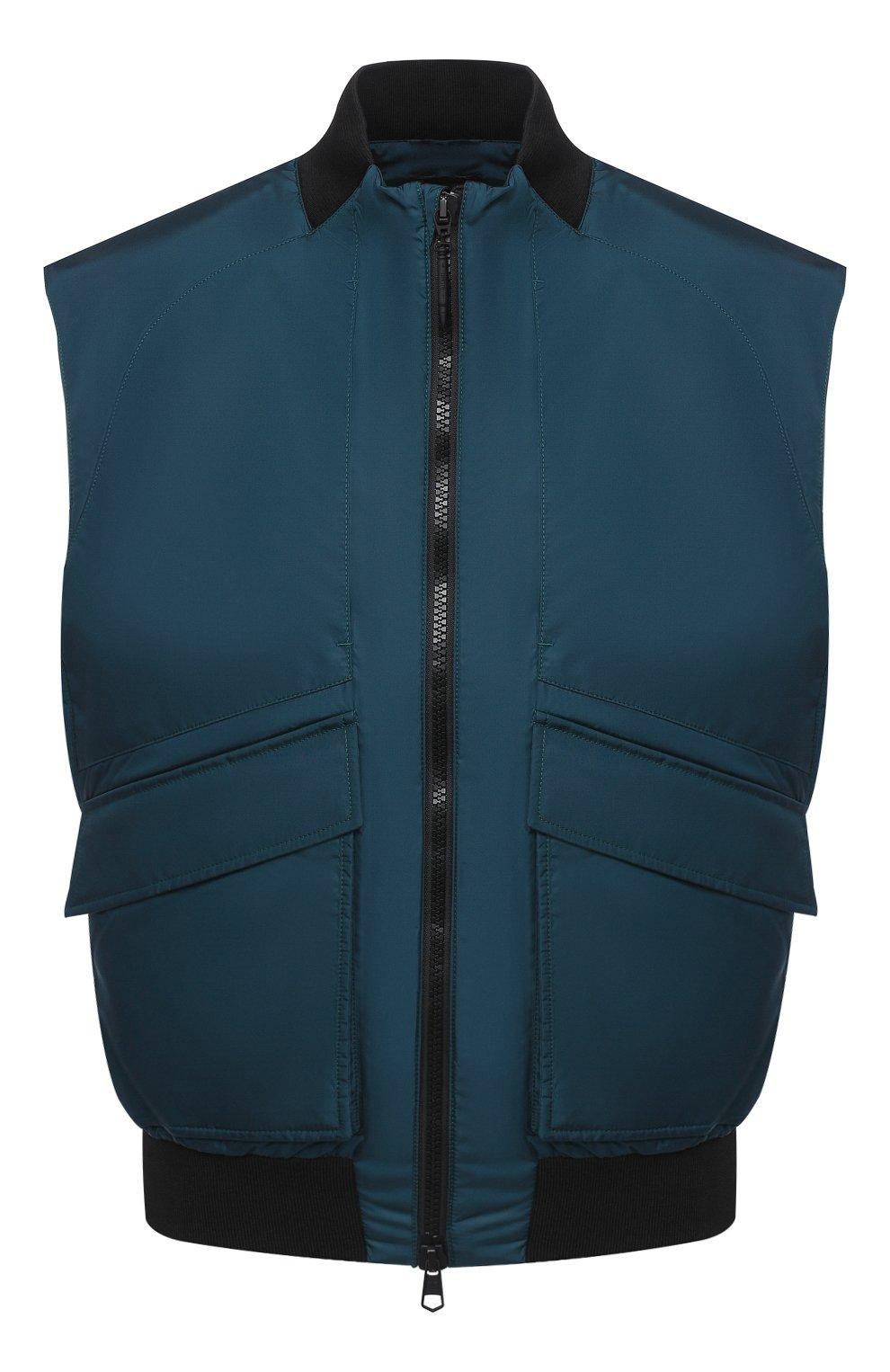 Мужской жилет CROW'S EYE темно-бирюзового цвета, арт. LE 65   Фото 1 (Кросс-КТ: Куртка; Материал внешний: Синтетический материал; Стили: Спорт-шик; Материал подклада: Синтетический материал; Мужское Кросс-КТ: Верхняя одежда; Длина (верхняя одежда): Короткие)