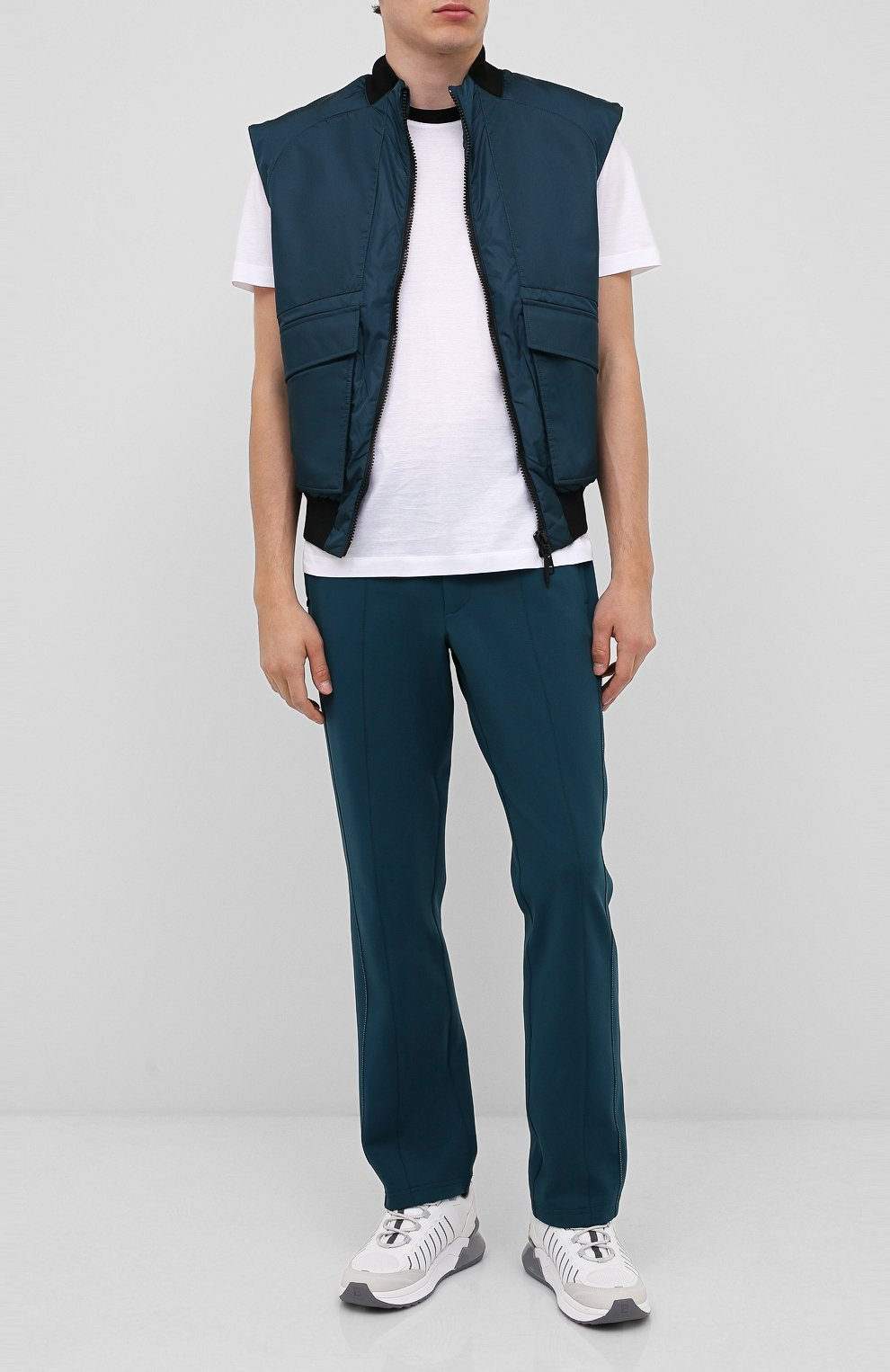 Мужской жилет CROW'S EYE темно-бирюзового цвета, арт. LE 65   Фото 2 (Кросс-КТ: Куртка; Материал внешний: Синтетический материал; Стили: Спорт-шик; Материал подклада: Синтетический материал; Мужское Кросс-КТ: Верхняя одежда; Длина (верхняя одежда): Короткие)