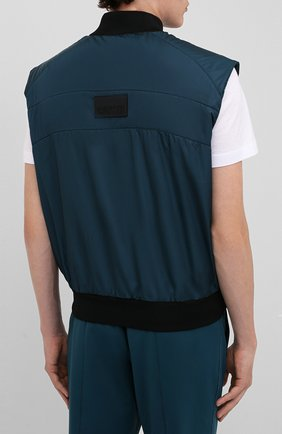 Мужской жилет CROW'S EYE темно-бирюзового цвета, арт. LE 65   Фото 4 (Кросс-КТ: Куртка; Материал внешний: Синтетический материал; Стили: Спорт-шик; Материал подклада: Синтетический материал; Мужское Кросс-КТ: Верхняя одежда; Длина (верхняя одежда): Короткие)