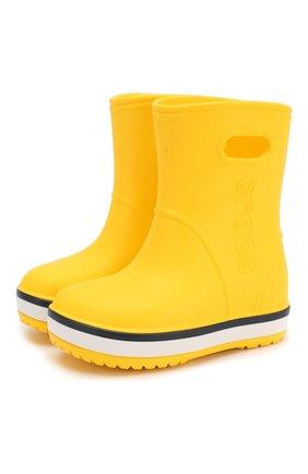 Детские резиновые сапоги CROCS желтого цвета, арт. 205827-734   Фото 1