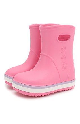 Детские резиновые сапоги CROCS розового цвета, арт. 205827-6QM   Фото 1