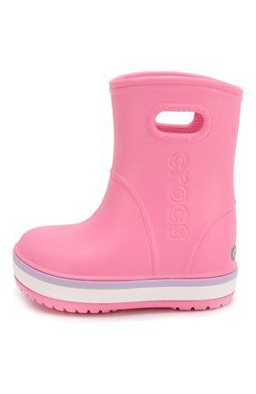 Детские резиновые сапоги CROCS розового цвета, арт. 205827-6QM   Фото 2