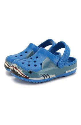 Детские сабо shark band CROCS синего цвета, арт. 206271-4JL | Фото 1