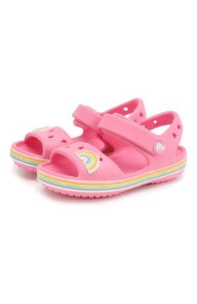 Детские босоножки CROCS розового цвета, арт. 206145-669 | Фото 1