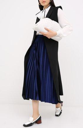 Женская юбка-миди VALENTINO синего цвета, арт. UB3MD01W5MD   Фото 2