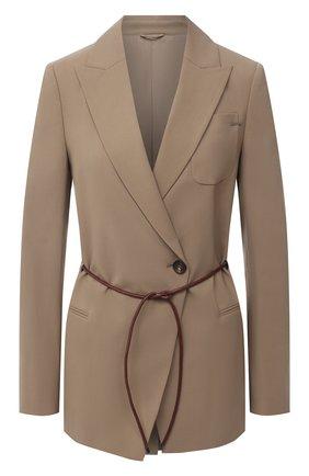 Женский шерстяной жакет BRUNELLO CUCINELLI коричневого цвета, арт. MA1058883P | Фото 1