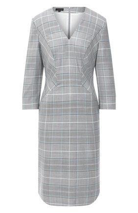 Женское шерстяное платье ESCADA серого цвета, арт. 5033670 | Фото 1
