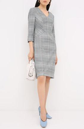 Женское шерстяное платье ESCADA серого цвета, арт. 5033670 | Фото 2