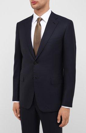 Мужской шерстяной костюм BRIONI темно-синего цвета, арт. RA000L/P5AMJ/BRUNIC0 | Фото 2