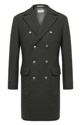 Мужской шерстяное пальто BRUNELLO CUCINELLI хаки цвета, арт. MN4679003D | Фото 1