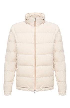 Мужская пуховая куртка BRUNELLO CUCINELLI белого цвета, арт. MQ4041743 | Фото 1