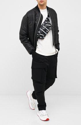 Мужские комбинированные кроссовки BOTTEGA VENETA белого цвета, арт. 565646/VJE21 | Фото 2