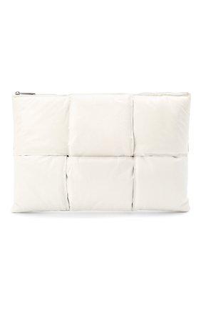 Женские кожаный футляр для документов BOTTEGA VENETA белого цвета, арт. 630348/VB090 | Фото 1