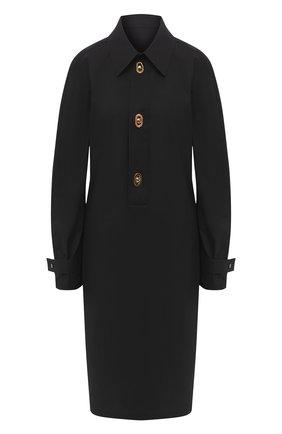 Женское хлопковое платье BOTTEGA VENETA черного цвета, арт. 628010/VKPB0 | Фото 1