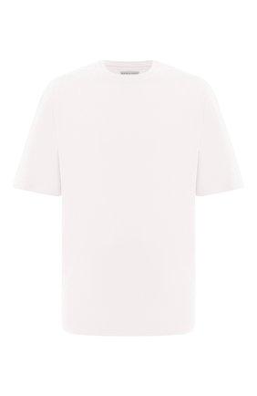 Мужская хлопковая футболка BOTTEGA VENETA белого цвета, арт. 625982/VF1U0 | Фото 1