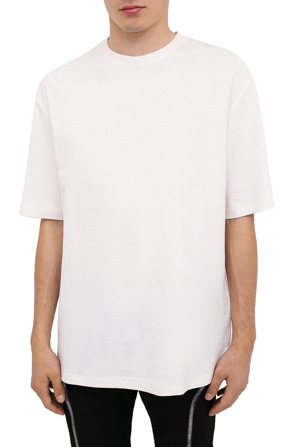 Мужская хлопковая футболка BOTTEGA VENETA белого цвета, арт. 625982/VF1U0 | Фото 3