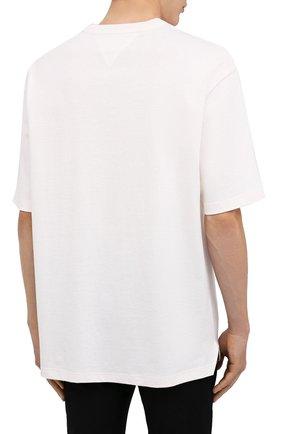 Мужская хлопковая футболка BOTTEGA VENETA белого цвета, арт. 625982/VF1U0 | Фото 4