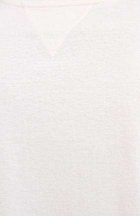 Мужская хлопковая футболка BOTTEGA VENETA белого цвета, арт. 625982/VF1U0 | Фото 5