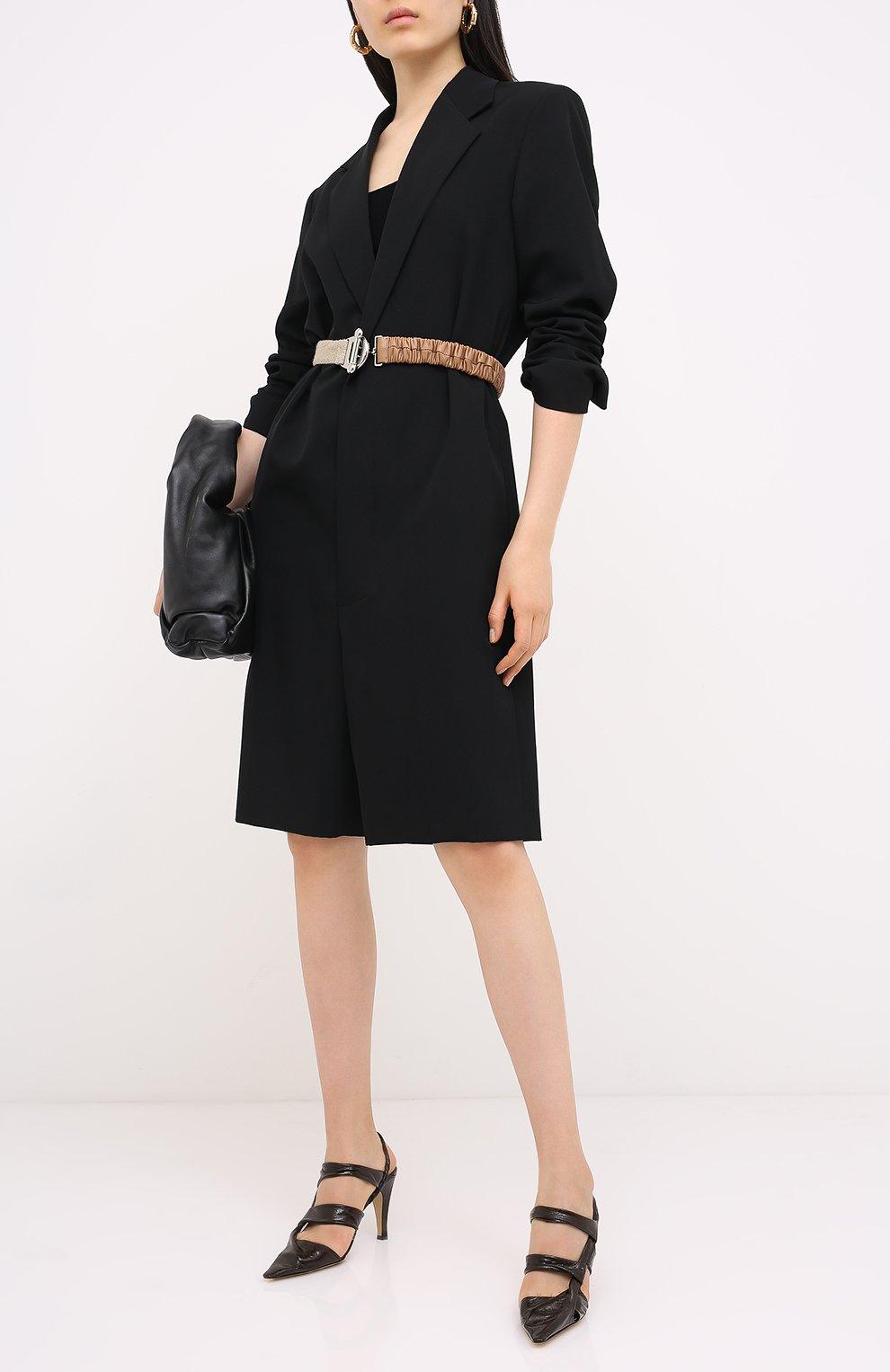 Женские кожаные туфли bv point BOTTEGA VENETA темно-коричневого цвета, арт. 630187/VBP10 | Фото 2