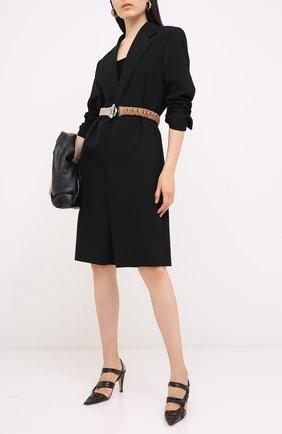 Женская кожаные туфли bv point BOTTEGA VENETA темно-коричневого цвета, арт. 630187/VBP10 | Фото 2