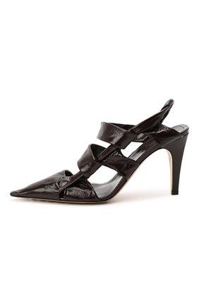 Женские кожаные туфли bv point BOTTEGA VENETA темно-коричневого цвета, арт. 630187/VBP10 | Фото 3