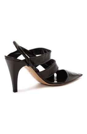 Женские кожаные туфли bv point BOTTEGA VENETA темно-коричневого цвета, арт. 630187/VBP10 | Фото 4