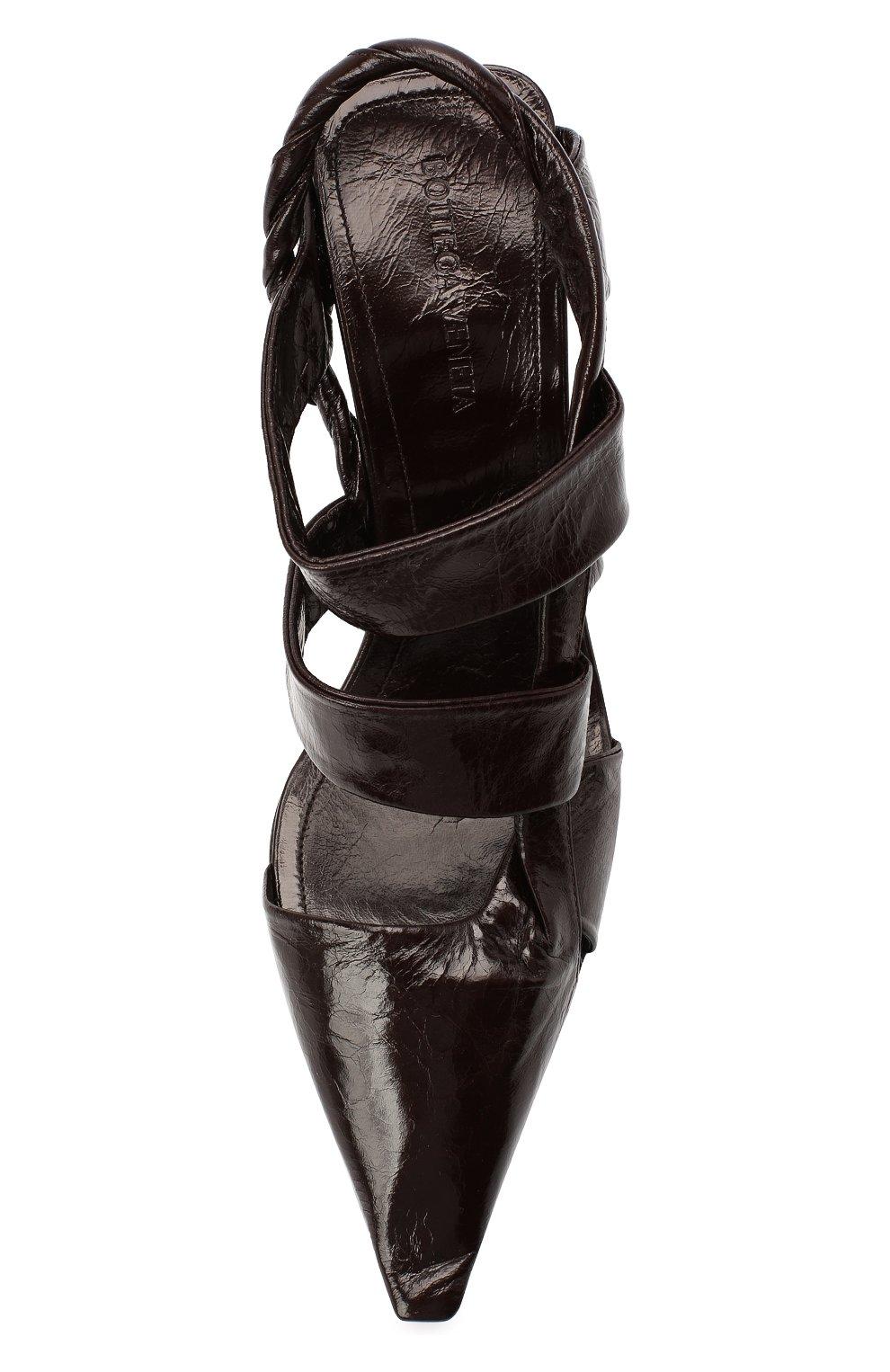Женские кожаные туфли bv point BOTTEGA VENETA темно-коричневого цвета, арт. 630187/VBP10 | Фото 5