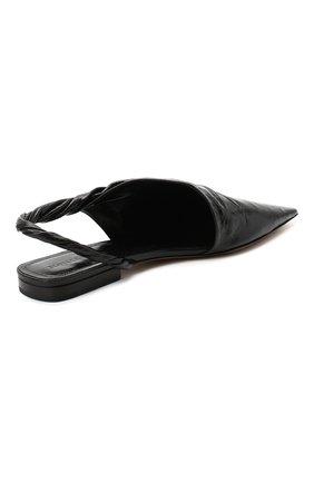 Женские кожаные балетки bv point BOTTEGA VENETA черного цвета, арт. 630184/VBP10 | Фото 4