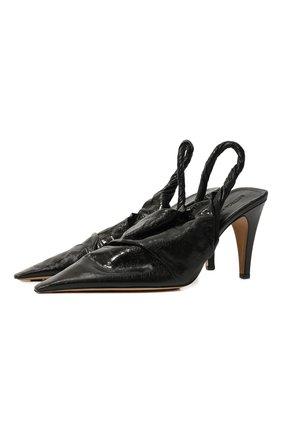 Женская кожаные туфли bv point BOTTEGA VENETA черного цвета, арт. 630183/VBP10 | Фото 1